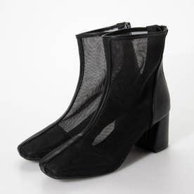 スクエアシアーチュールブーツ (ブラック)