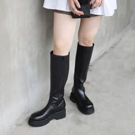 【EVOL】  トラックソールロングブーツ IR9620 (ブラック)