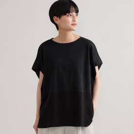 ◆◆【ウォッシャブル】【接触冷感】ブロッキングTシャツ (ブラック)