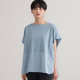 ◆◆【ウォッシャブル】【接触冷感】ブロッキングTシャツ (ブルー)