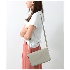 スクエアマルチお財布バッグ (ライトグレー)