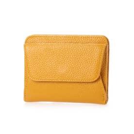 スリムレザー二つ折りミニ財布 (イエロー)