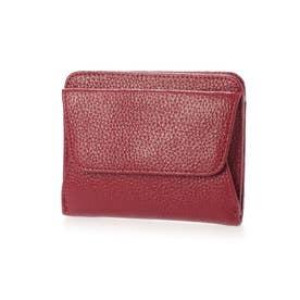 スリムレザー二つ折りミニ財布 (ワイン)