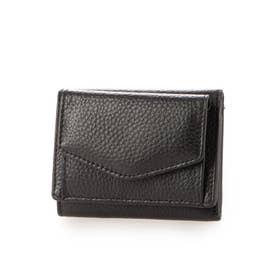牛革三つ折りミニ財布 (ブラック)