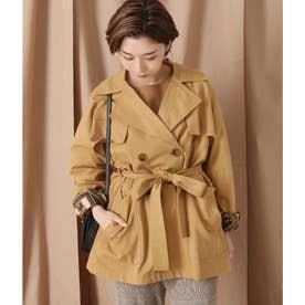 ミドル丈トレンチジャケットコート(ベージュ)