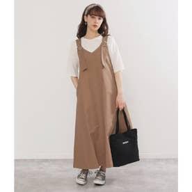 Vデザインジャンパースカート(モカ)