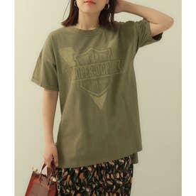 ロゴサイドスリットTシャツ(カーキ)