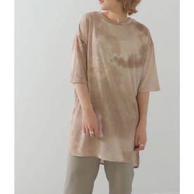 タイダイオーバーTシャツ(ベージュ)