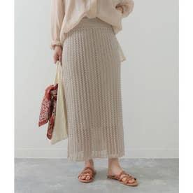 透かし編みスカート(ベージュ)