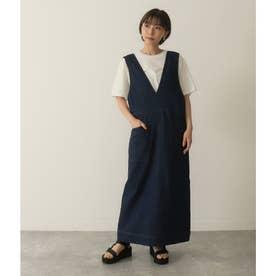 バッククロスジャンパースカート(ブルー)