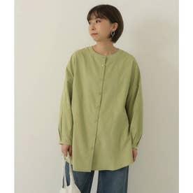 2WAYバンドネックシャツ(イエローグリーン)