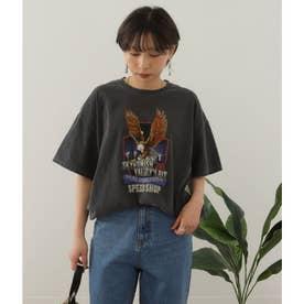 イーグルプリントTシャツ(ブラック)