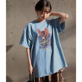 イーグルプリントTシャツ(ライトブルー)