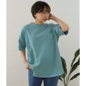 ビッグシルエット加工入りTシャツ(サックスブルー)