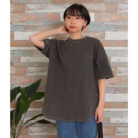 ビッグシルエット加工入りTシャツ(ブラック)