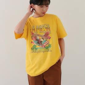 LAMESAイーグルプリントTシャツ(イエロー)