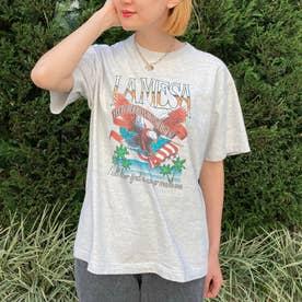 LAMESAイーグルプリントTシャツ(オフホワイト)