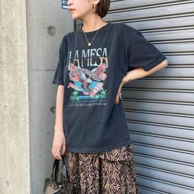 LAMESAイーグルプリントTシャツ(ブラック)