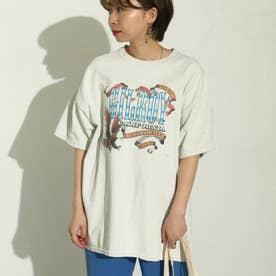 GILROYイーグルプリントTシャツ(オフホワイト)