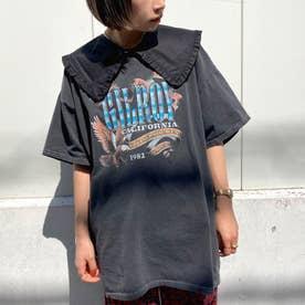 GILROYイーグルプリントTシャツ(ブラック)