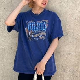 GILROYイーグルプリントTシャツ(ブルー)