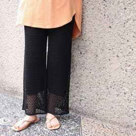 メッシュ編みパンツ(ブラック)