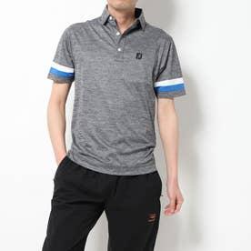 メンズ ゴルフ 半袖シャツ スリーブストライプ ヘザーカノコシャツ 9683602249