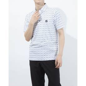 メンズ ゴルフ 半袖シャツ タイプリントライルシャツ 0353186761 (ホワイト)