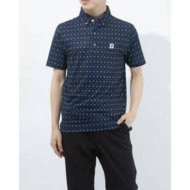 メンズ ゴルフ 半袖シャツ タイプリントライルシャツ 0353186815 (ネイビー)