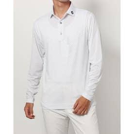 メンズ ゴルフ 長袖シャツ FJ-F20-S81選べるシャツ_ F21-S81 (ホワイト)