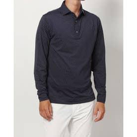 メンズ ゴルフ 長袖シャツ FJ-F20-S81選べるシャツ_ F21-S81 (ネイビー)