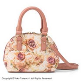 花と暮らす 小さなサイズに心ときめく しっかり仕立てのハンドバッグポシェット (ニュアンスローズ)