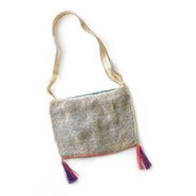 ラオス 3つの民族の技がひとつに フィッシュネットバッグ (ベージュ)
