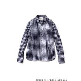 NARUTO-ナルト- 疾風伝 チェックシャツ〈メンズ〉 (ブラック)