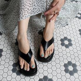 足袋フラットサンダル (ブラック)