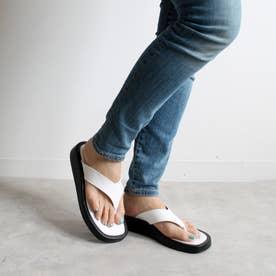 足袋フラットサンダル (ホワイト)
