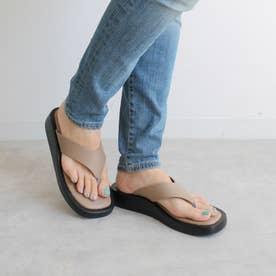 足袋フラットサンダル (ベージュ)