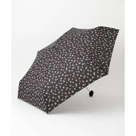 フェミニンレオパードアンブレラ折りたたみ 傘 (ブラック系)