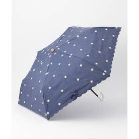 プチマーガレットパラソル折りたたみ 傘 (ネイビー系)