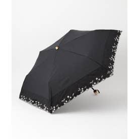 ボーダリングチェリーパラソル折りたたみ 傘 (ブラック系)