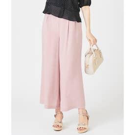【おうち時間に】リネンタッチクロージングワイド パンツ (ピンク系)