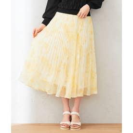 【洗える】Pastelミスティプリント スカート (ライトイエロー系3)
