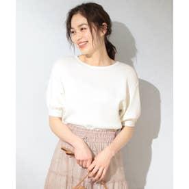 【洗える】パフスリニット Tシャツ (アイボリー系)