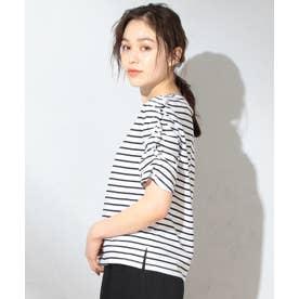 【抗菌防臭】シャーリングスリーブ Tシャツ (ブラック系1)
