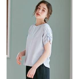 【抗菌防臭】リボンブラウジング Tシャツ (スカイブルー系)
