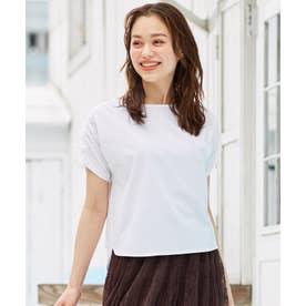 【抗菌防臭】リボンブラウジング Tシャツ (アイボリー系)