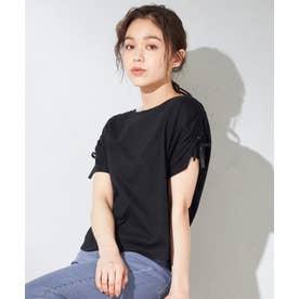 【抗菌防臭】リボンブラウジング Tシャツ (ブラック系)