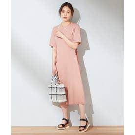 【抗菌加工】Tシャツ ワンピース (オレンジ系)