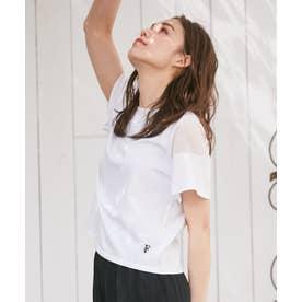 【THE Mコラボ】オーガビッツFモチーフ Tシャツ (アイボリー系)