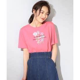 【THE Mコラボ】オーガビッツフラワーモチーフ Tシャツ (ローズ系)